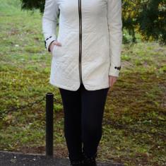 Jacheta din piele ecologica, de culoare alba (Culoare: ALB, Marime: L-40) - Jacheta dama
