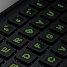 Litere fosforescente pentru tastatura, font zombie