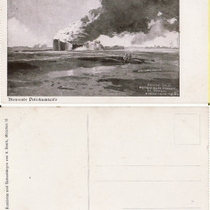 Ploiesti - rezervoare petrol -  rara- foto razboi, WWI-militara