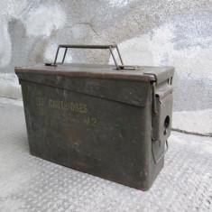 Cutie goala de metal, pentru munitie