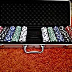 Set Poker 500 de Jetoane, Servieta de Aluminiu