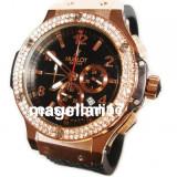 Big Bang Chronograph ! Black Dial ! Calitate Premium ! Cutie Cadou - Ceas dama, Lux - elegant, Quartz, Inox, Cauciuc, Cronograf
