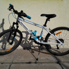 Bicicleta MTB Rockrider RR Junior 5.2 24'' cu suspensie pe furca față, ieftina - Mountain Bike Rockrider, 18 inch, Numar viteze: 18