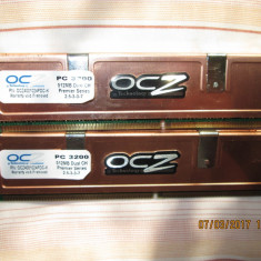 Kit memorii OCZ DDR 400 PC 3200 CL 2, 5 512MBx2 - Memorie RAM