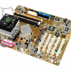Kit Placa de baza Asus socket A + procesor AMD Athlon 1.04 GHz + Cooler, Aa7n8x-x, Pentru AMD