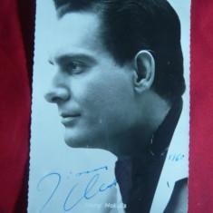 Fotografie de Studio a cantaretului Jimmy Makulis, autograf si dedicatie 1960
