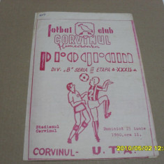 Program         Corvinul  Hd.  -  UTA