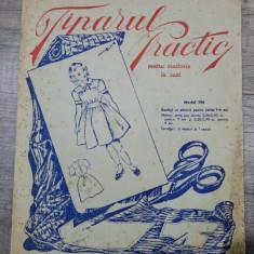 Tiparul practic pentru croitorie in casa/model 106, rochita cu platca fetite 7-9