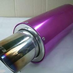 Toba sport inox carub cu silencer detasabil culoare violeta, Universal