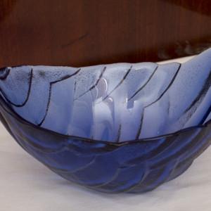Fructiera mica de sticla forma de frunza 1