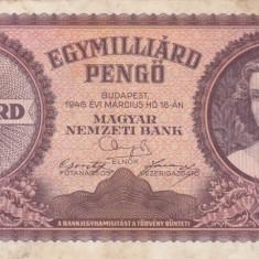 UNGARIA 1.000.000.000 pengo 1946 VF!!! - bancnota europa