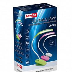 Lampa de birou 5 W, cu acumulator, touch, USB, ActiveJet Croco
