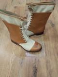 Superbe cizme TIMBERLAND Boot Company originale handmade piele+tesut 41, Camel, Piele naturala