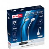 Lampa de birou 4.5 W, 15 LED-uri, USB, neagra, touch ActiveJet Luna
