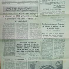Informatia Bucurestiului 30 noiembrie 1979 realegere Ceausescu telegrame decret - Ziar