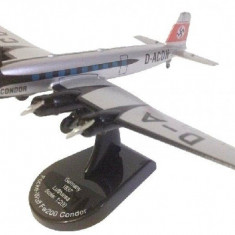 Macheta avion FOCKE WULF FW 200 CONDOR LUFTHANSA 1937 scara 1:200 - Macheta Aeromodel