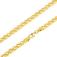 Lanț din aur - zale mici și mari, eliptice și lucioase, 450 mm - Lantisor aur