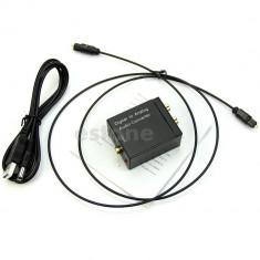 Convertor audio digital in analog / optic la rca / toslink