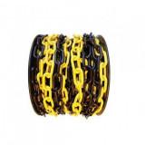 Lanț plastic pe tambur Strend Pro, lungime 25 m, grosime 6 mm, galben/negru
