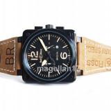 Bell&Ross Heritage ! ! ! Calitate Premium ! - Ceas barbatesc, Lux - sport, Quartz, Inox, Piele, Cronograf