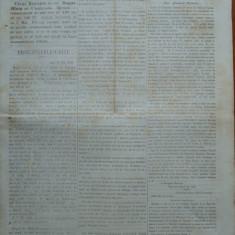 Ziarul Steoa Dunarei, Zimbrulu si Vulturulu ; Steaua Dunarii, nr. 81, 1860