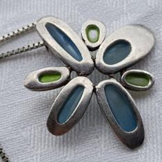 Medalion argint Elegant Delicat Finut de Efect Superb vintage - Pandantiv argint