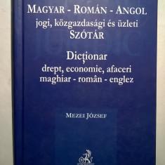 Mezei Joszef - Dictionar drept, economie, afaceri maghiar-roman