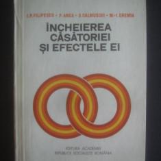 INCHEIEREA CASATORIEI SI EFECTELE EI {cu dedicatia si autograful autorilor}