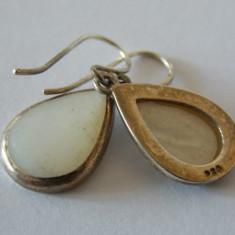Cercei de argint cu sidef -1365 - Cercei argint