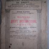 GEORGE PLASTARA-MANUAL DE DREPT INTERNATIONAL PUBLIC, 1921 - Carte Drept international