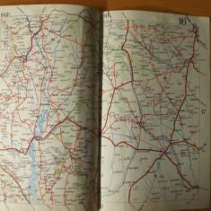 Husi Tighina Falciu harta color anii 1930 - Harta Romaniei