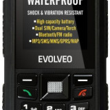 "Telefon Mobil Evolveo StrongPhone X1, LCD 2.2"", 2G, 2MP, Dual Sim, Rezistent la apa si praf (Negru)"