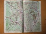Bacau Piatra Neamt Vaslui Barlad Targu Ocna Onesti Adjud harta color anii 1930