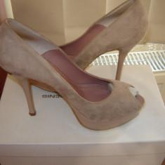Pantofi DENIS WHY MODEL model 2052 Nude mar.39 - Pantof dama, Cu toc