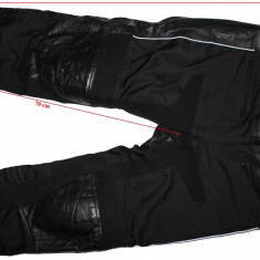 Pantaloni moto Held, piele+sintetic, protectii, waterproof, barbati, XL - Imbracaminte moto