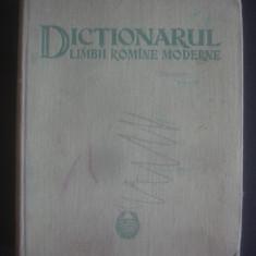 DICTIONARUL LIMBII ROMANE MODERNE {1958}