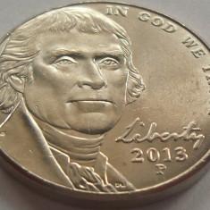 Moneda 5 Centi - SUA, anul 2013 *cod 4515 a.UNC, America de Nord