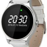 "Smartwatch Kruger&Matz Style, Ecran 1.22"", Bluetooth (Argintiu/Alb)"