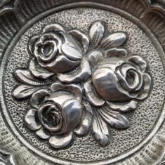 Scrumiera argint 800 cu motiv Floral Splendida Superba de colectie, Vas