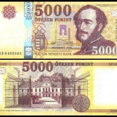 UNGARIA BANCNOTA 5000 FORINT 2016 2017 EDITIE NOUA NECIRCULATA - bancnota europa