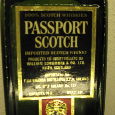 Whisky passport scotch, scotch whisky, cl.75 gr. 43 ani 60