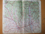 Craiova Slatina Targu Jiu Dragasani Filiasi Bals harta color anii 1930