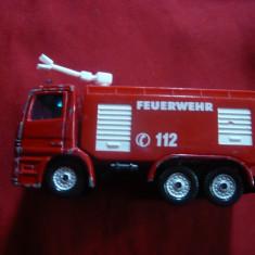 Masinuta de Pompieri, marca Siku Germania, L= 7, 6 cm, metal