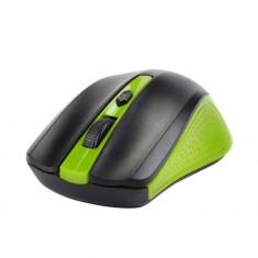 Mouse Gaming PC Laptop Wireless Green 1600 dpi Nano Receiver USB, Optica, 1000-2000