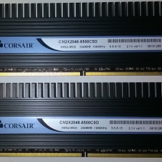 Corsair Dominator 4GB DDr2 1066 PC2-8500 2*2GB DDR2 Gaming TWIN2X2048-8500C5D - Memorie RAM Corsair, 1066 mhz, Dual channel
