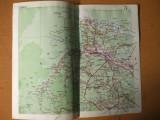 Cernauti Storojinet Siret Radauti harta color anii 1930