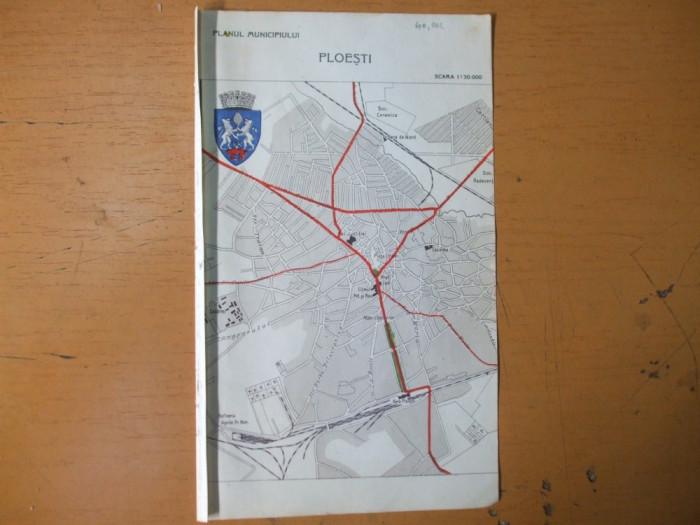 Ploesti Targu - Mures Sibiu plan oras harta color anii 1930