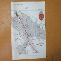 Iasi Oradea plan oras harta color anii 1930