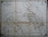 Harta color a cailor de comunicatie din Judetul Suceava , 1914