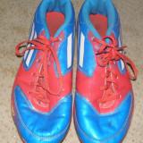 Ghete fotbal Adidas F50 cu crampoane, albastrii, marimea 41 1/3, Culoare: Albastru